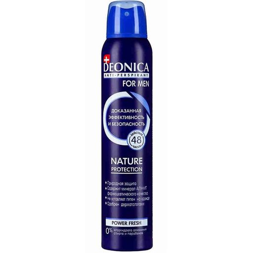 Deonica Антиперспирант Nature protect For men, спрей, 200 мл, 1 шт. цена